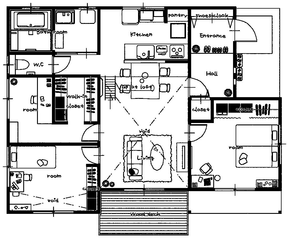YOHACO平屋平面図