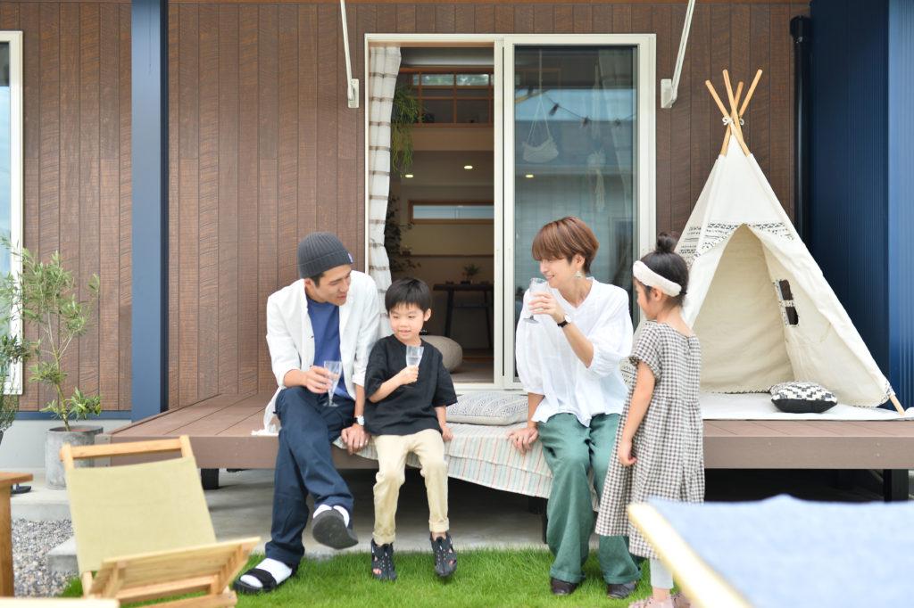 YOHACO平屋,ウッドデッキ,バーベキュー,庭,ベランピング